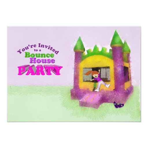 Bounce House Party Card