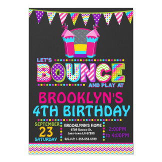Bounce House Party Invitation Personalized Invite