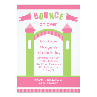 bounce house party invitations - House Party Invitation