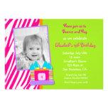 Bounce House Photo Birthday invitation