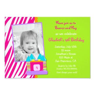 """Bounce House Photo Birthday invitation 5"""" X 7"""" Invitation Card"""