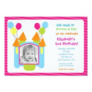 Bounce House Photo Birthday Invitations