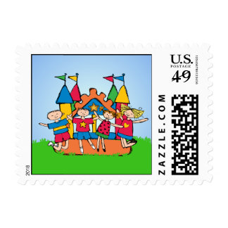 Bounce House Postage Stamps