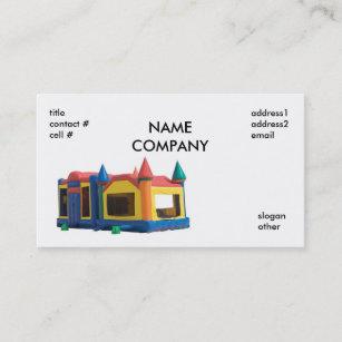 Bounce House Business Cards & Templates | Zazzle on bounce house business card, haunted house embroidery design, bounce house marketing, bounce house stationery, bounce house logo design,