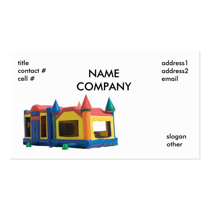 House Rentals Companies: Bounce House Rental, NAMECOMPANY, Titlecontact