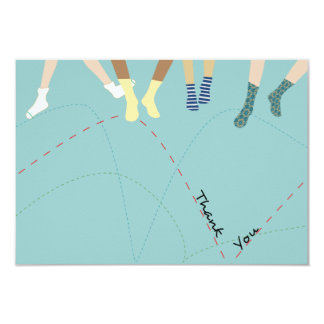Bounce Party Flat Thank You Card
