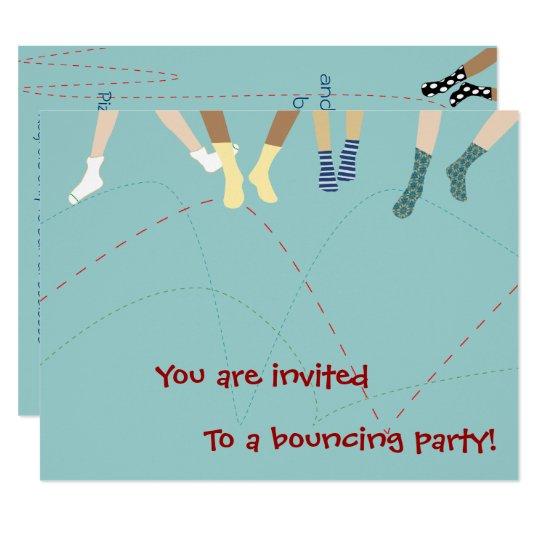 Bounce Party Invitation
