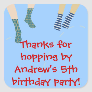 Bounce Party Thank You Sticker