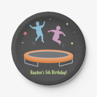 Bounce Trampoline Kids Birthday Party Supplies Paper Plate