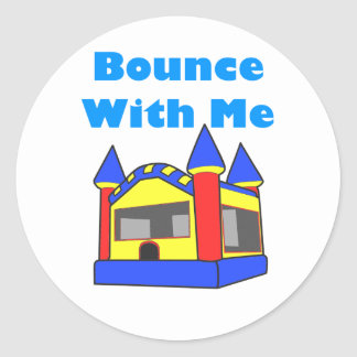 Bounce With Me Moonwalk Classic Round Sticker