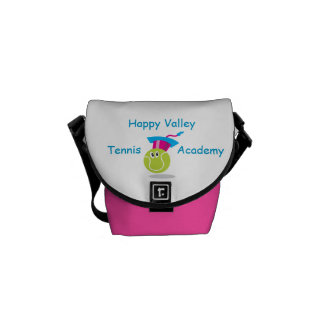 Bouncee™ smiling tennis ball_student of the game 2 messenger bag