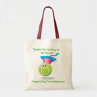 Bouncee™ smiling tennis ball_student of the game tote bags
