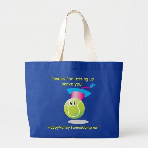 Bouncee™ smiling tennis ball_student of the game jumbo tote bag