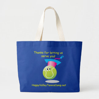 Bouncee™ smiling tennis ball_student of the game large tote bag