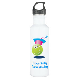 Bouncee™ smiling tennis ball_student of the game 24oz water bottle