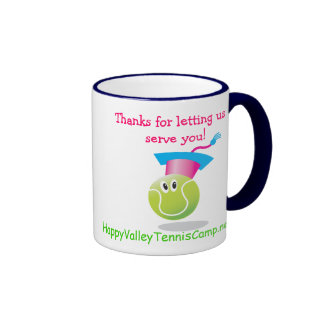 Bouncee™ smiling tennis ball_student of the game ringer coffee mug