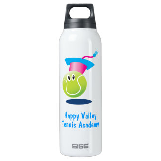 Bouncee™ smiling tennis ball_student of the game 16 oz insulated SIGG thermos water bottle