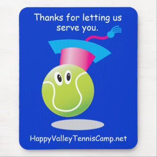Bouncee™ smiling tennis ball_Thank you promo gift Mouse Pad