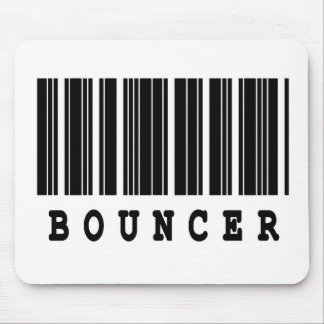 bouncer barcode design mouse pad