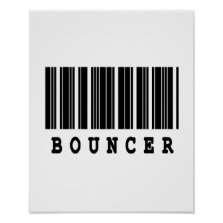 bouncer barcode design poster