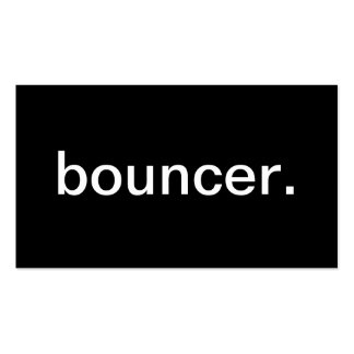 Bouncer Double-Sided Standard Business Cards (Pack Of 100)