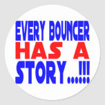 Bouncer Round Stickers