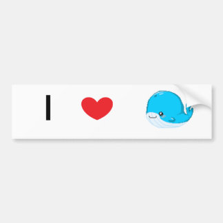 Bouncey the Whale Bumper Sticker