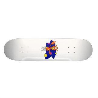 Bouncing Alien Clown Skate Board Deck
