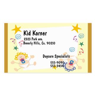 Bouncing Babies Swirls Stars Business Card Template