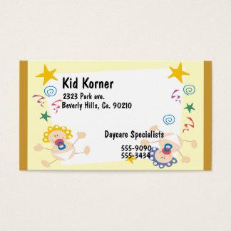 Bouncing Babies, Swirls, & Stars Business Card
