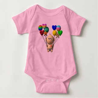 BOUNCING BABY BOY WITH 10 BALLOONS BABY BODYSUIT