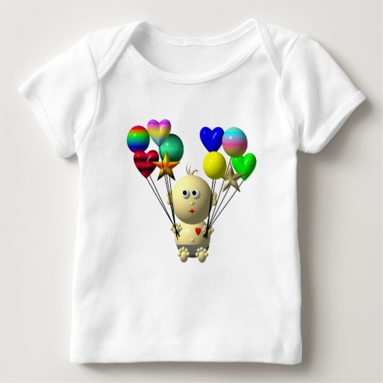 BOUNCING BABY BOY WITH 10 BALLOONS BABY T-Shirt