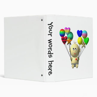 BOUNCING BABY BOY WITH 10 BALLOONS BINDER