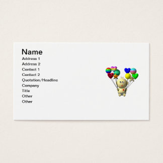 BOUNCING BABY BOY WITH 10 BALLOONS BUSINESS CARD