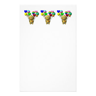 BOUNCING BABY BOY WITH 10 BALLOONS STATIONERY