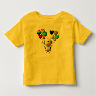 BOUNCING BABY BOY WITH 10 BALLOONS TODDLER T-SHIRT