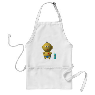 BOUNCING BABY BOY WITH 1 BOTTLE ADULT APRON