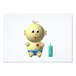 BOUNCING BABY BOY WITH 1 BOTTLE CARD