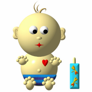 BOUNCING BABY BOY WITH 1 BOTTLE STATUETTE