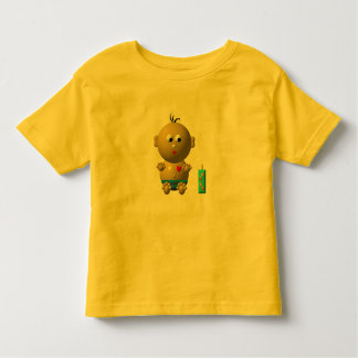 BOUNCING BABY BOY WITH 1 BOTTLE TODDLER T-SHIRT