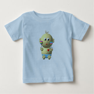 Bouncing baby boy with 2 rattles baby T-Shirt