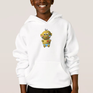 Bouncing baby boy with 2 rattles hoodie