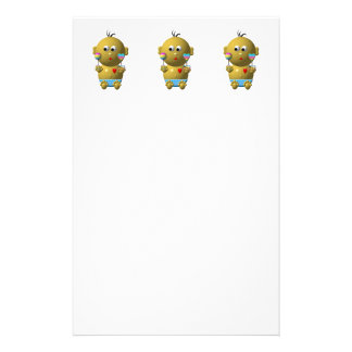 Bouncing baby boy with 2 rattles stationery