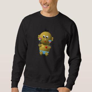 Bouncing baby boy with 2 rattles sweatshirt
