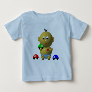 BOUNCING BABY BOY WITH 3 TOY CARS BABY T-Shirt