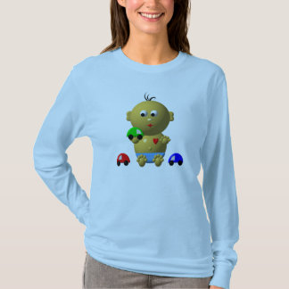 BOUNCING BABY BOY WITH 3 TOY CARS T-Shirt