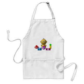 BOUNCING BABY BOY WITH 5 PRESENTS ADULT APRON