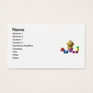 BOUNCING BABY BOY WITH 5 PRESENTS BUSINESS CARD