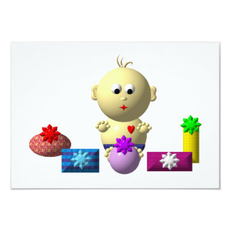 BOUNCING BABY BOY WITH 5 PRESENTS CARD
