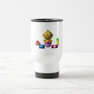 BOUNCING BABY BOY WITH 5 PRESENTS TRAVEL MUG